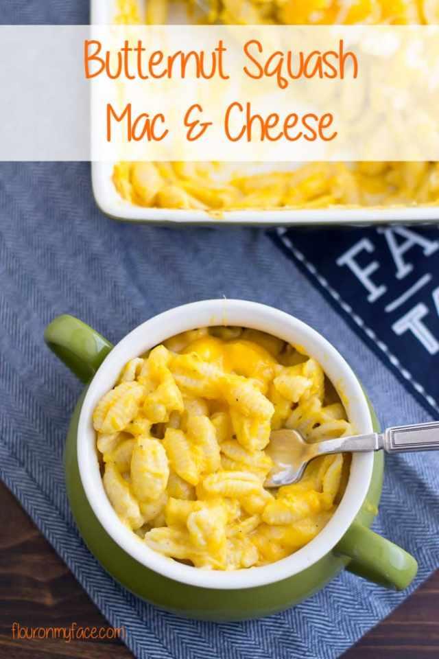 Butternut Squash Mac and Cheese recipe via flouronmyface.com