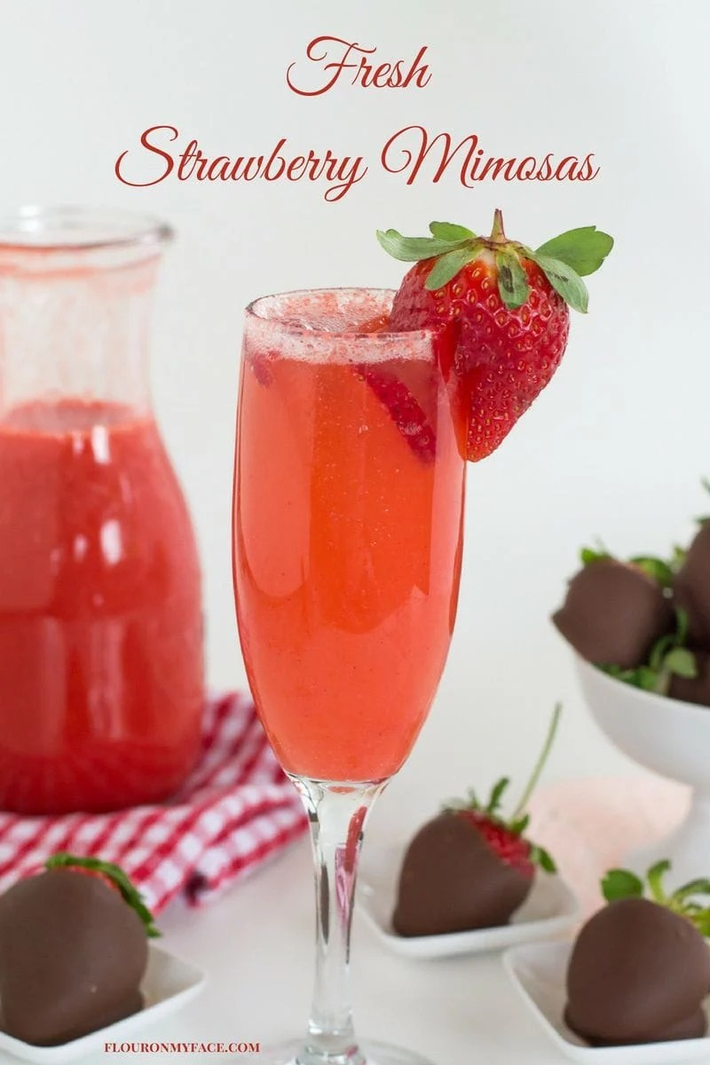 Valentines Day Fresh Strawberry Mimosas Recipe Flour On My Face