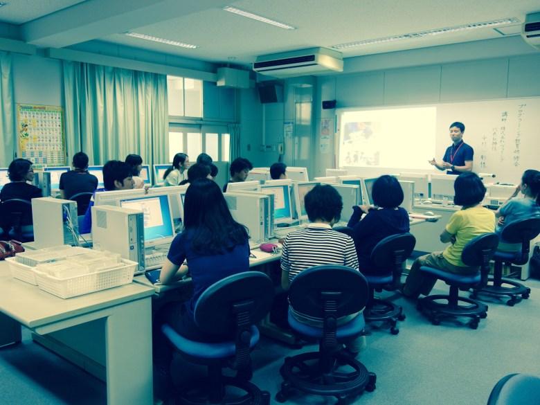 大阪市城東区森之宮小学校にて先生向けプログラミング教育研修会を開催