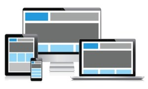 image of page layout on various devices