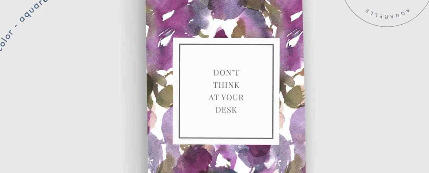 Don't think at your desk Flow Arte Journal