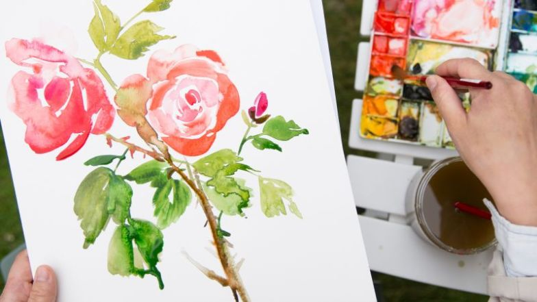 Painting in the garden with Yao cheng