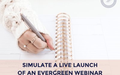 How to Use Meet Edgar to Simulate a Live Launch of an Evergreen Webinar
