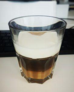 Cappuccino met sojamelk