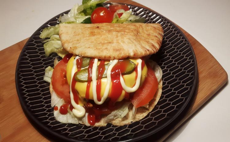 koolhydraatarme hamburger