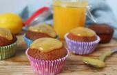 Koolhydraatarme cupcakes met lemon curd