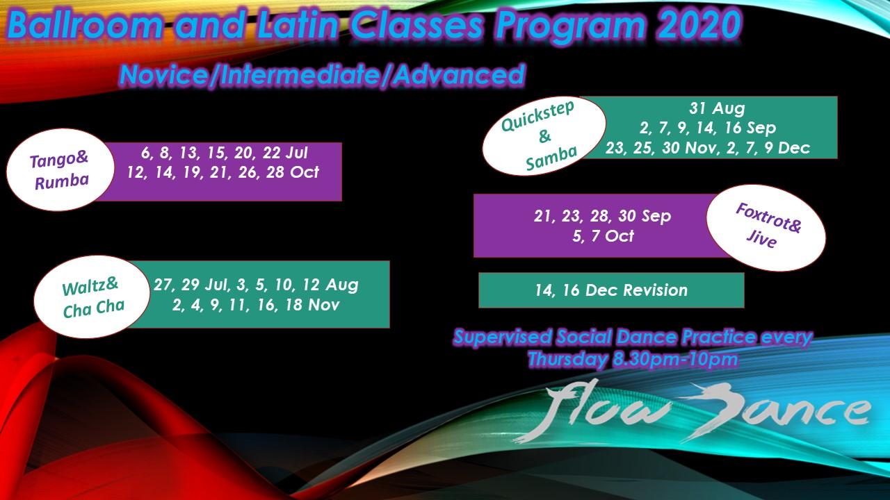 Novice Intermediate Advanced Groups jul-dec 2020