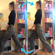 Office Yoga lunges