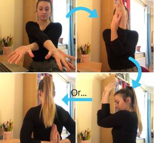Office Yoga Shoulder stretch
