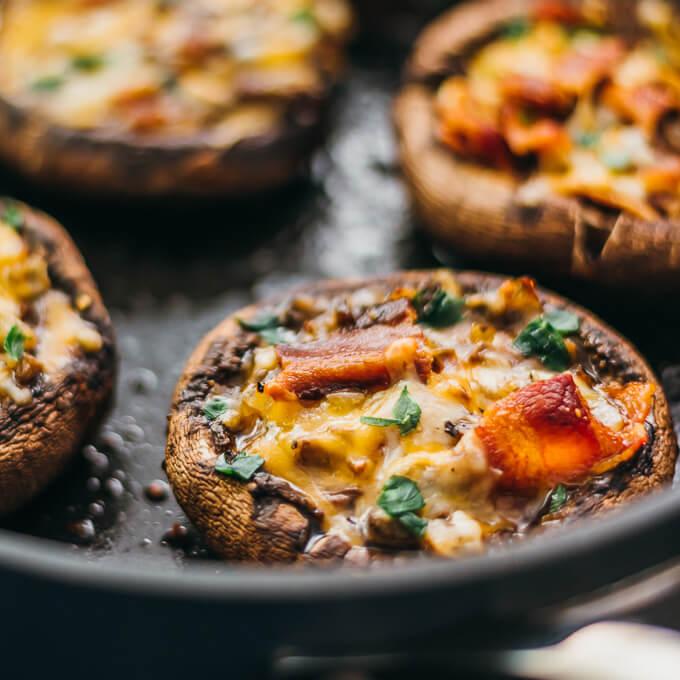 Stuffed Mushrooms (Ham, Cheese & Red Peppers) 2