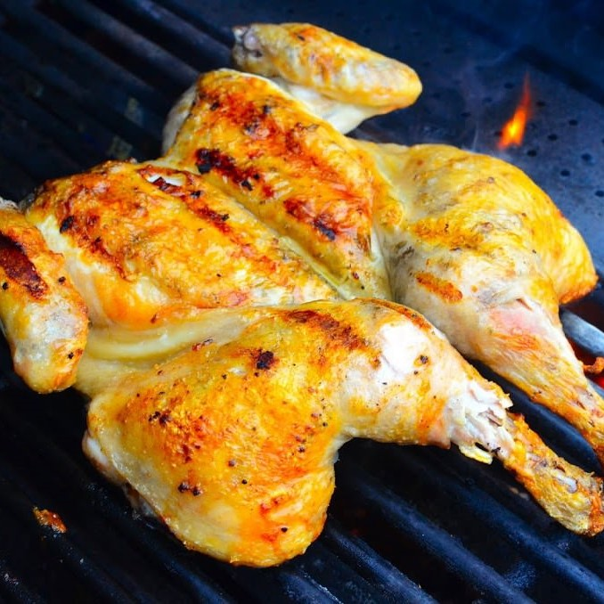 Whole Butterfly Chicken (Seasoned with Garlic Butter)