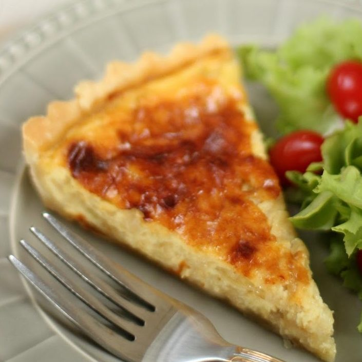 Homemade Sticky Onion Quiche