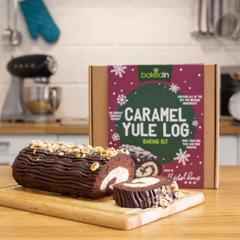 CHOCOLATE & CARAMEL YULE LOG BAKING KIT