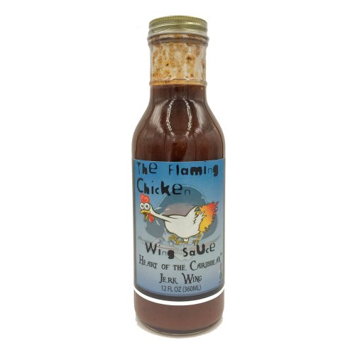 The Flaming Chicken Heart of the Caribbean Jerk Wing Sauce