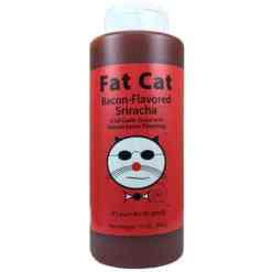 Fat Cat Bacon Flavored Sriracha Sauce