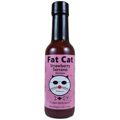 Fat Cat Strawberry Serrano Hot Sauce