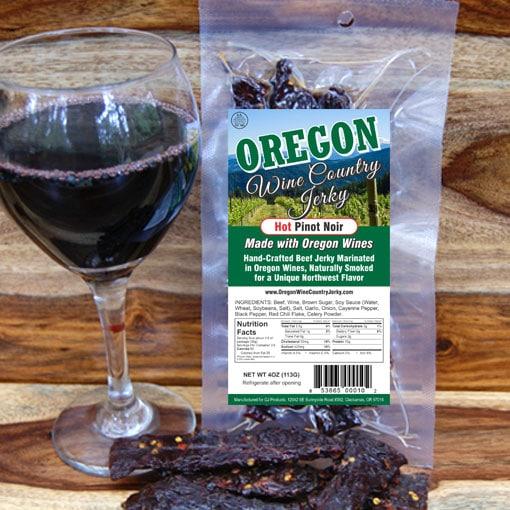 Oregon Wine Country – Hot Pinot Noir Beef Jerky