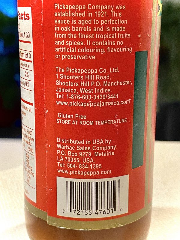 does hot sauce need to be refrigerated? not pickapeppa hot red pepper sauce