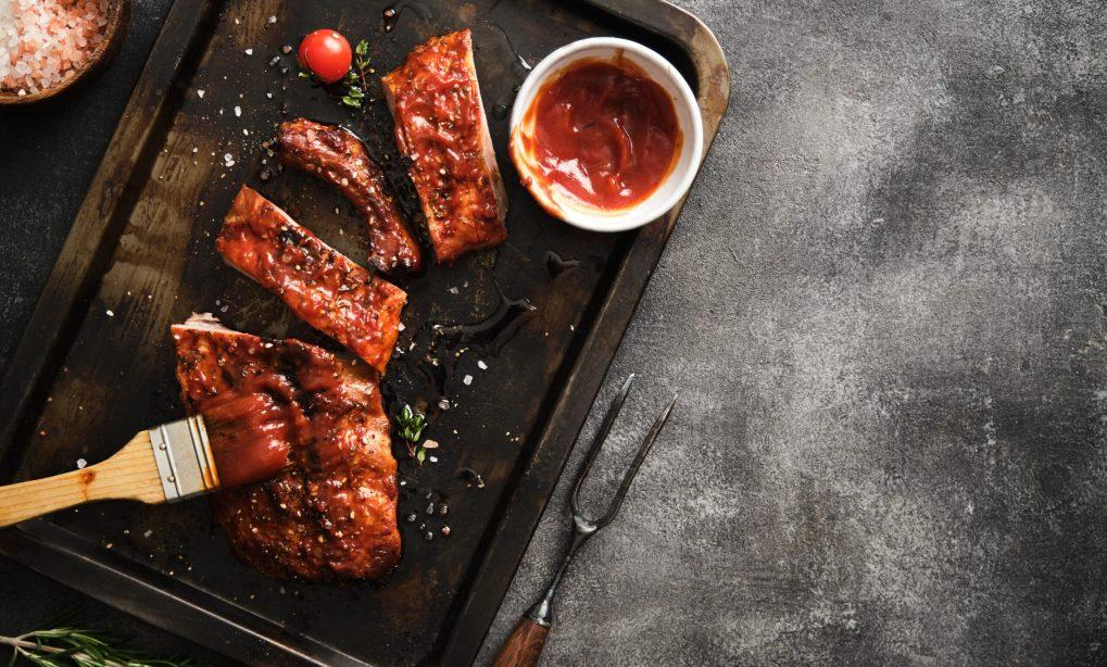 Oklahoma BBQ sauce on top of ribs