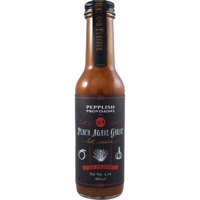 Pepplish Provisions Peach Agave Garlic Hot Sauce