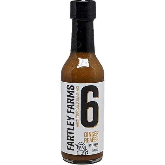 Fartley Farms Warm Your Cold, Dead Fart Ginger Reaper Hot Sauce
