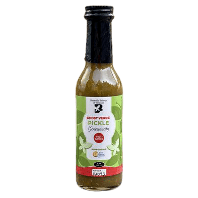 Butterfly Bakery of Vermont Ghost Verde Pickle Genersaucity Hot Sauce