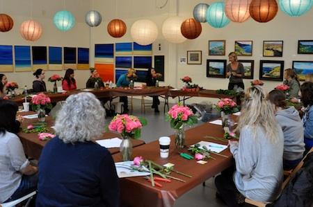 Flower Arranging Classes Los Angeles  LA Flower Mart Tours