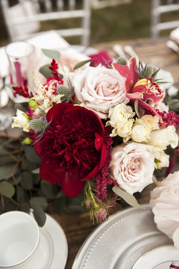 Flower Duets Marsala Wedding Bouquet  Wedding Trends