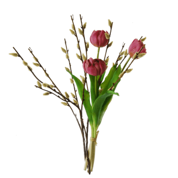 Tulips-lavender-pussy-willow