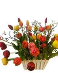 oranje,-gele,-rode,-roze-tulpen