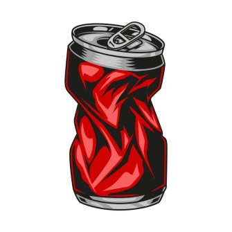 A crushed can demonstrating the Pop Can Implosion Experiment