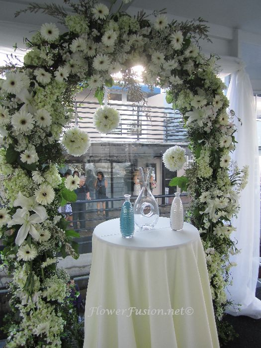 Destiny Yacht Wedding White  FlowerFusion