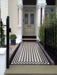 Victorian Black And White Mosaic Tile Path Balham Tooting ...