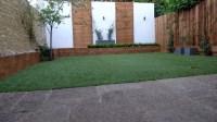 Fake grass brick garden wall front garden company London ...