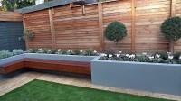 Modern-garden-design-London-easy-grass-fake-formal-trellis ...