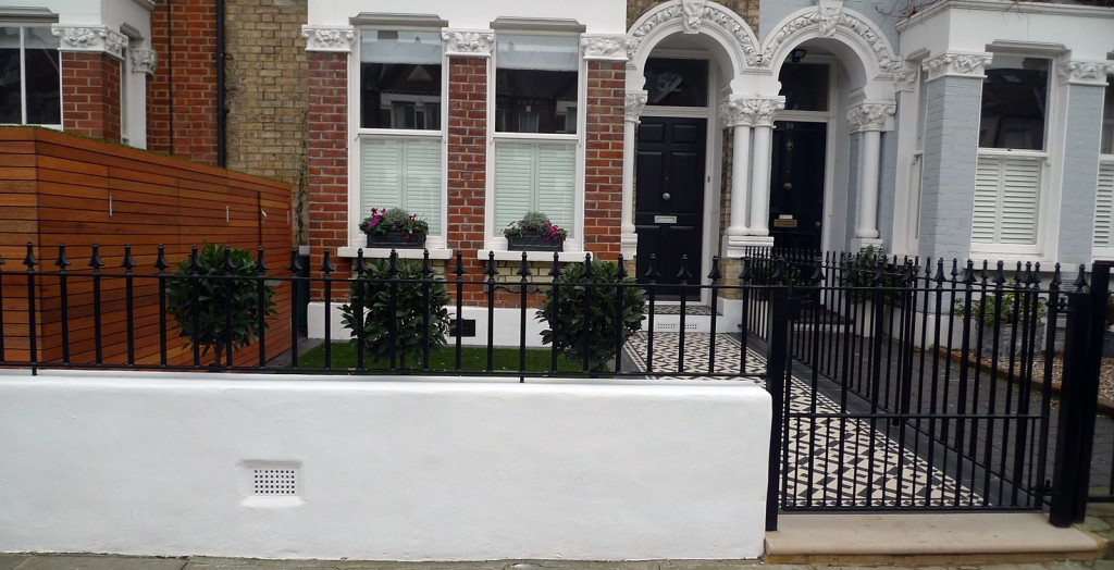 Planting small design front garden London Clapham Balham