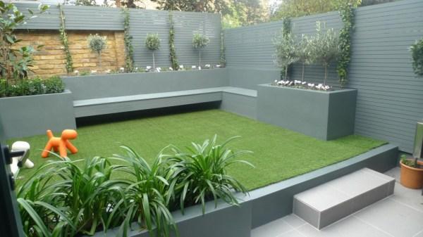 modern small maintenance garden