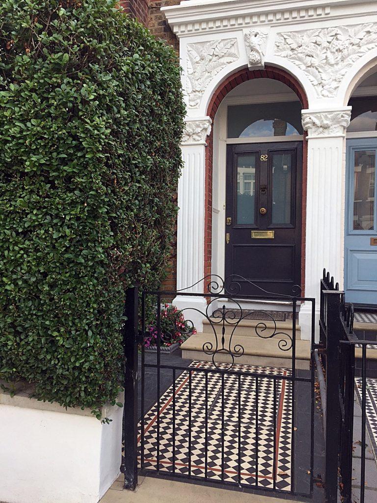 Multi Colour Edwardian Mosaic Front Garden Design London