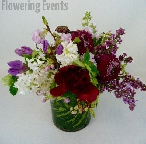 Peonies, hyacinths tulips lilac and stock