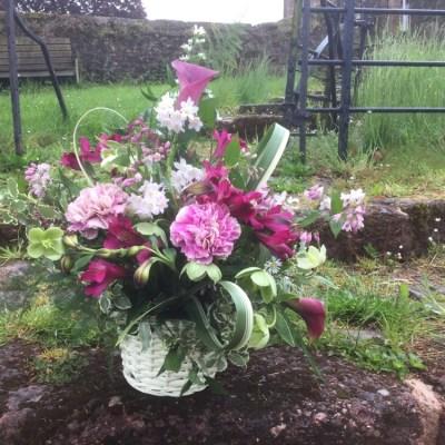 Sympathy basket by flowerjoy