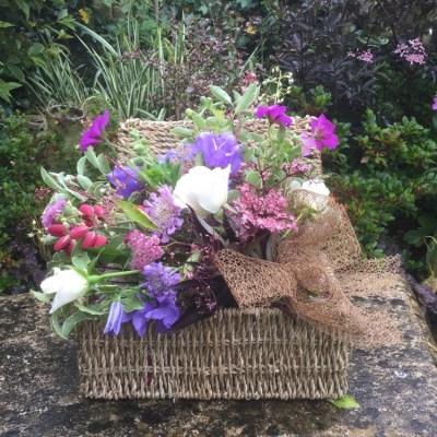 Flowers in a basket by flowerjoy