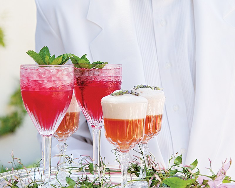97295f055013a0 Floral Cocktail Recipes From Sea Island. Elaine Griffin serves refreshing  summer drinks from The Cloister