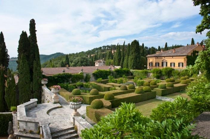 14 Jun 2012, Chianciano Terme, Italy --- Italy, Toscana (Tuscany), Chianciano Terme . the garden of Villa la Foce --- Image by © Atlantide Phototravel/Corbis