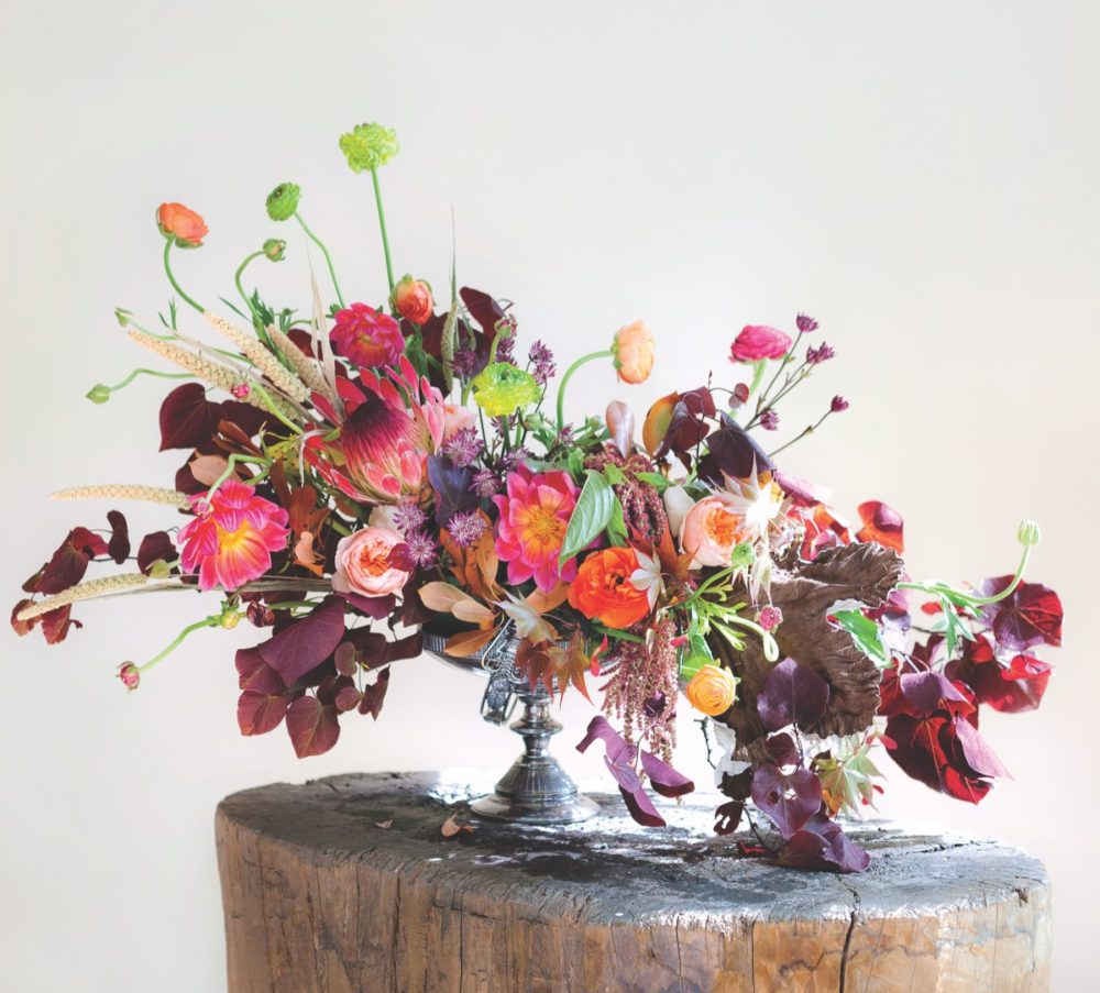 autumn flower arrangement how to