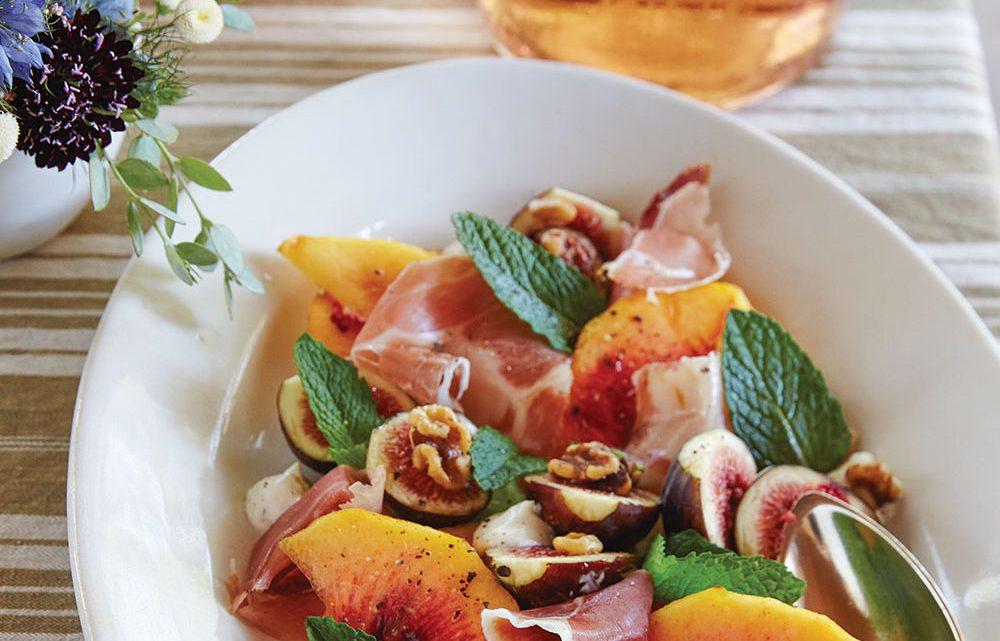 peach fig salad, frank stitt