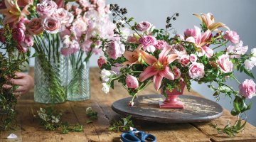 ingrid carozzi, all-pink arrangement