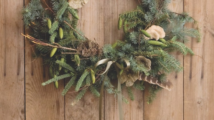 amy merrick, evergreen wreath