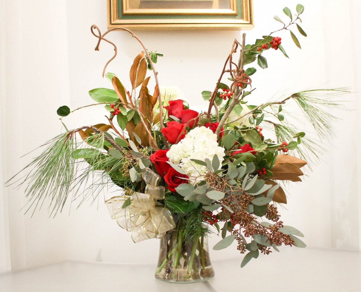 Christmas gift flowers arrangement how to flower magazine