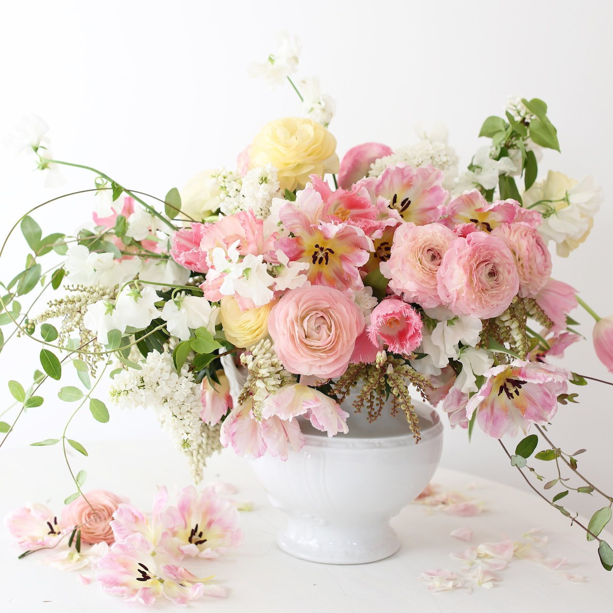 In the pink flower arrangements magazine