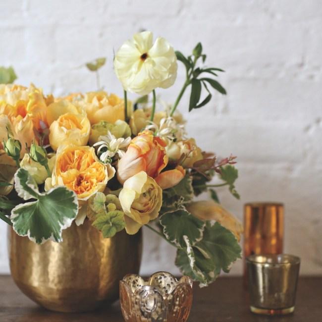 sullivan owen spring arrangements, yellow arrangements